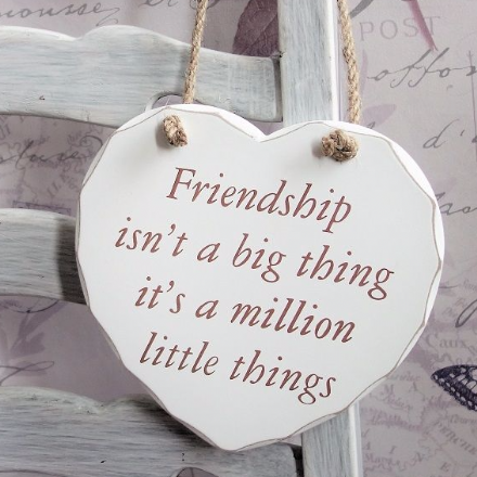 50% OFF Friendship isn't a big thing... Hanging Heart